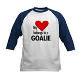 Heart belongs, goalie Tee