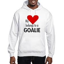 Heart belongs, goalie Hoodie