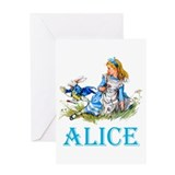 ALICE IN WONDERLAND - BLUE Greeting Card