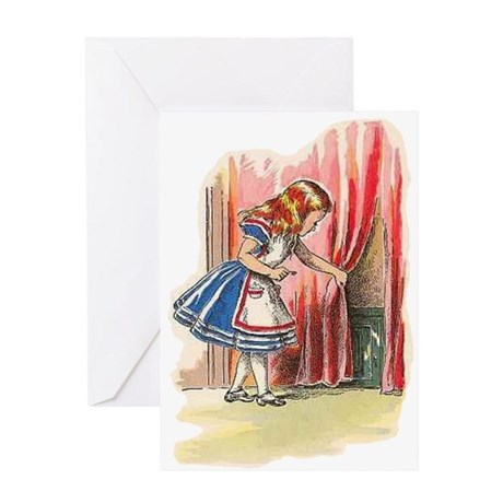 Alice FInds a Door Greeting Card