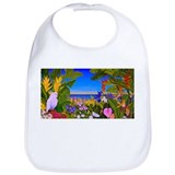 Tropical Paradise Art Bib