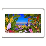 Tropical Paradise Art Banner
