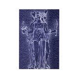Noctilucent Hekate Rectangle Magnet (10 pack)