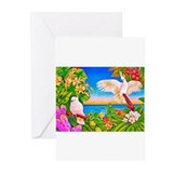 Tropical Paradise Art Greeting Cards (Pk of 10)