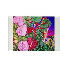 Tropical Paradise Art Rectangle Magnet (100 pack)