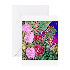 Tropical Paradise Art Greeting Card