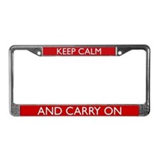 Crimson Red License Plate Frame