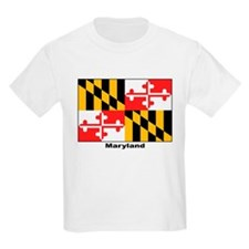 Maryland State Flag (Front) Kids T-Shirt