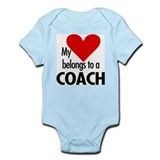 Heart belongs, coach Infant Creeper