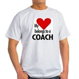 Heart belongs, coach Ash Grey T-Shirt