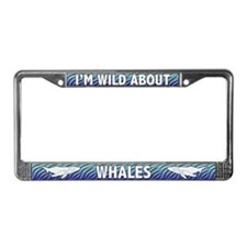Wild About Whales License Plate Frame
