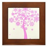 Winter Snowflake Tree Framed Tile