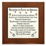 10 Reasons to love an Airman Framed Tile