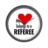 Heart belongs, referee Wall Clock