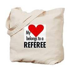 Heart belongs, referee Tote Bag