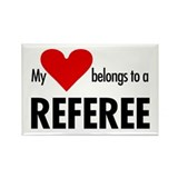 Heart belongs, referee Rectangle Magnet (100 pack)