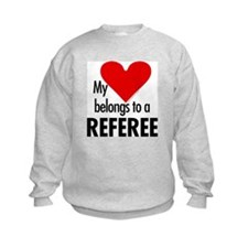 Heart belongs, referee Sweatshirt