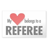 Heart belongs, referee Rectangle Decal