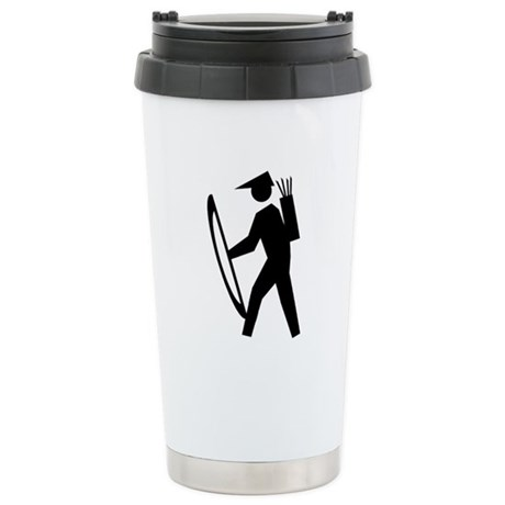 Archery Guy Ceramic Travel Mug