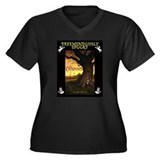 TREEMENDOUSLY SPOOKY Women's Plus Size V-Neck Dark