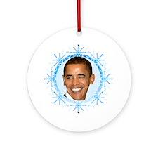 Obama Snowflake Ornament (Round)