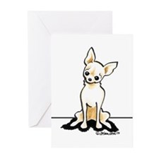 Cream Chi Sit Pretty Greeting Cards (Pk of 20)
