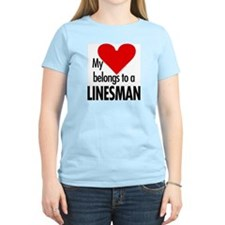 Heart belongs, linesman Women's Pink T-Shirt