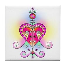 Voodoo Erzulie Veve Tile Coaster
