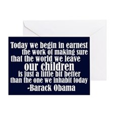 Obama & Future Hope Greeting Card