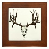 Deer skull Framed Tile