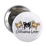 "Longhair Chihuahua Lover 2.25"" Button"
