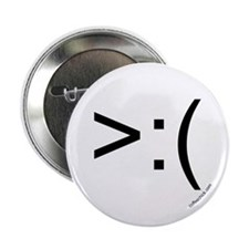 ">:( emoticon 2.25"" Button"