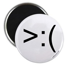 ">:( emoticon 2.25"" Magnet (100 pack)"