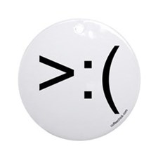 >:( emoticon Ornament (Round)