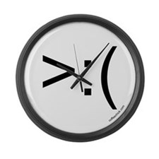 >:( emoticon Large Wall Clock