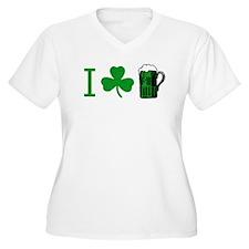 Unique Green shamrock T-Shirt