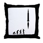 Astronaut Evolution Throw Pillow