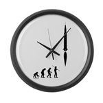 Astronaut Evolution Large Wall Clock