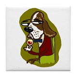 Wine Hound Tile Coaster