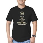 Don't Just Eat That Burger Men's Fitted T-Shirt (d