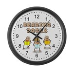 Reading Rocks Large Wall Clock