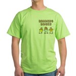 Reading Rocks Pocket Image Green T-Shirt