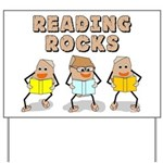 Reading Rocks Yard Sign