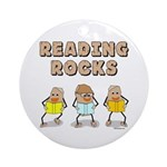 Reading Rocks Ornament (Round)