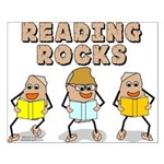 Reading Rocks Small Poster