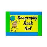 Geography Rock On Rectangle Magnet (10 pack)