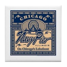 Navy Pier Box Design Tile Coaster