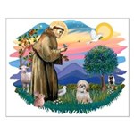 St Francis #2 / Shih Tzu. (P) Small Poster