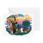 St. Francis #2 / Sheltie (sw) Greeting Cards (Pk o