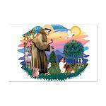 St. Francis #2 / Sheltie (sw) Mini Poster Print